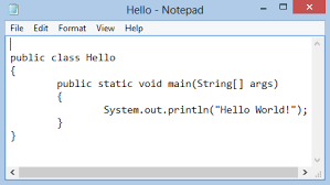 Hello World program example