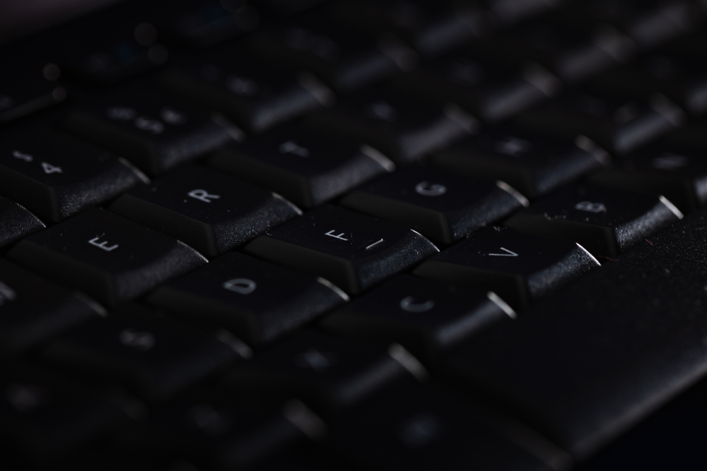 Close-up of a black keyboard